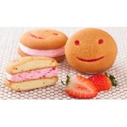 Biscuiti Smile Sandwich Crema Capsuna 17Kg/Cutie